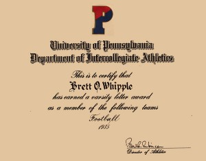 University of Pennsylvalia Athletics - Letter